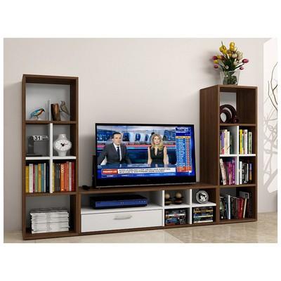 Bestline Tetra  (Ç.Kitaplıklı) - Ceviz TV Ünitesi