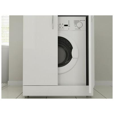 Bestline Mine Çamaşır Makinası Dolabı Seti - Beyaz Banyo Dolabı