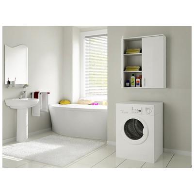 Bestline Mine Çamaşır Makinası Üst Dolabı - Beyaz Banyo Dolabı