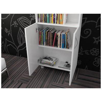 Bestline Hilal 2 Kapaklı Kitaplık - Beyaz Mobilya