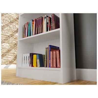 Bestline Sardunya Beş Raflı Kitaplık - Beyaz Mobilya
