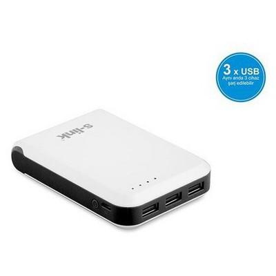 S-Link IP-955 10400 mAh Powerbank - Beyaz/Siyah
