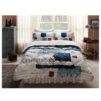 Taç Denim Uyku Seti Tek Kişilik - Mavi Ev Tekstili