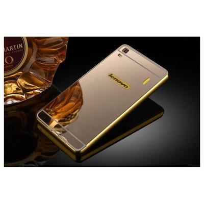 Microsonic Lenovo A7000 (k3 Note) Kılıf Luxury Mirror Gold Cep Telefonu Kılıfı