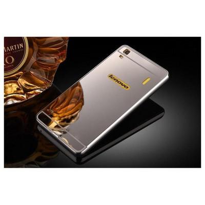 Microsonic Lenovo A7000 (k3 Note) Kılıf Luxury Mirror Gümüş Cep Telefonu Kılıfı