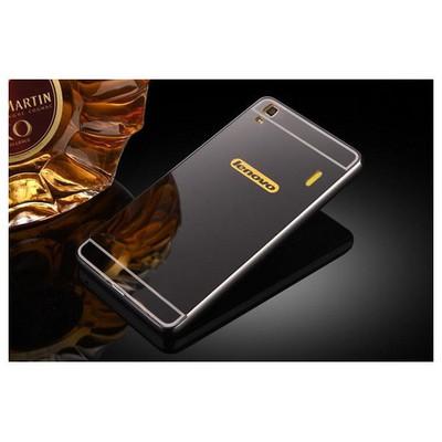 Microsonic Lenovo A7000 (k3 Note) Kılıf Luxury Mirror Siyah Cep Telefonu Kılıfı