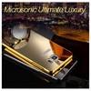 Microsonic Htc M8s Kılıf Luxury Mirror Gold Cep Telefonu Kılıfı
