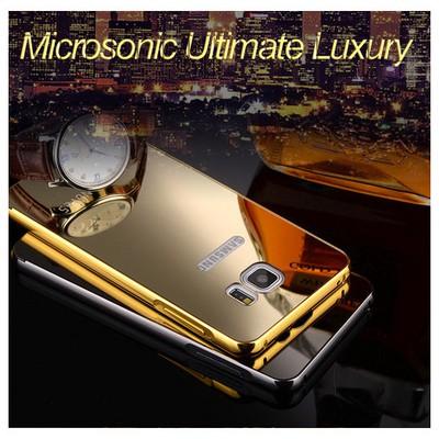 Microsonic Sony Xperia Z5 Compact (z5 Mini) Kılıf Luxury Mirror Gold Cep Telefonu Kılıfı