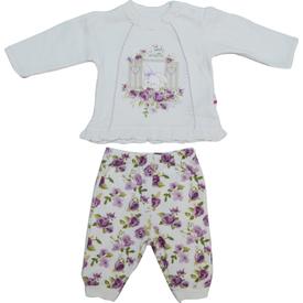 Baby Center S72058 Omuzdan Çıtçıtlı Bebek 2 Li Takım Lila 0-3 Ay (56-62 Cm) Kız Bebek Takım