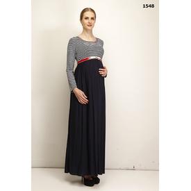 livaa-kemerli-penye-uzun-hamile-elbise-lacivert-xxl