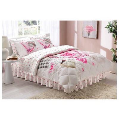 Taç Alice Uyku Seti Çift Kişilik - Pembe Ev Tekstili