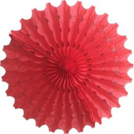 Parti Paketi Kırmızı Yelpaze Süs, Kağıt 40cm Parti Süsü