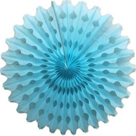 Parti Paketi Mavi Yelpaze Süs, Kağıt 40cm Parti Süsü