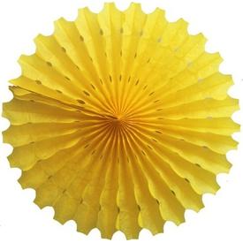 Parti Paketi Sarı Yelpaze Süs, Kağıt 40cm Parti Süsü