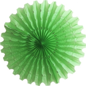 Parti Paketi Yeşil Yelpaze Süs, Kağıt 40cm Parti Süsü
