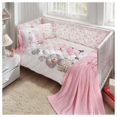 Taç Bunny Battaniyeli Bebek Uyku Seti - Pembe Ev Tekstili