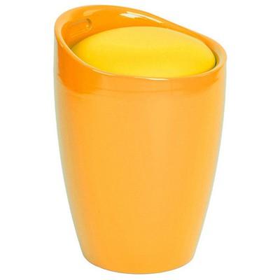 Adore Handy Mate Oval Sandıklı Tabure - Parlak Sarı