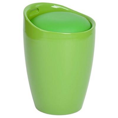 Adore Handy Mate Oval Sandıklı Tabure - Parlak Yeşil