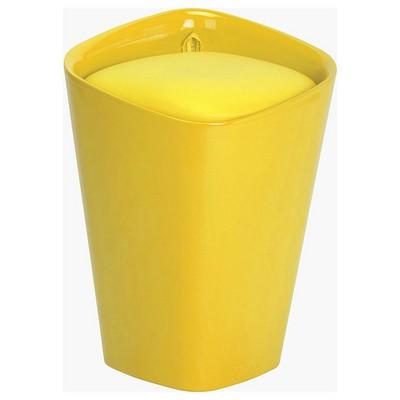 Adore Handy Mate Kare Sandıklı  - Parlak Sarı Tabure