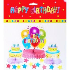 Parti Paketi Happy Birthday, Masa Dekor Seti Parti Sofra Süsü