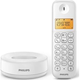 Philips D1301-whıte 50 Rehber 20 Arama Kaydı Caller Id D1301 Beyaz Kablolu Telefon