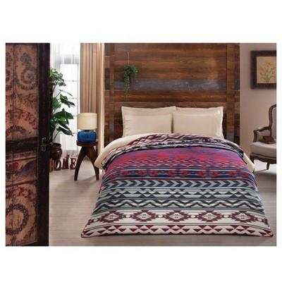 Taç West Battaniye Tek Kişilik - Kırmızı/lacivert Ev Tekstili