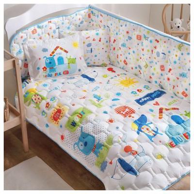 Taç Happy Dog Bebek Uyku Seti - Mavi Ev Tekstili