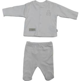 Baby Center S75691 Organik Bebek Pijama Takımı Ekru 0 Ay (50-56 Cm) Kız Bebek Pijaması