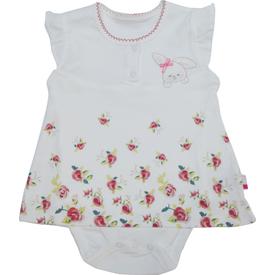 Baby Center S89025 Kız Bebek Cam Güzeli Jile Body Yarım Kol Pudra 0-3 Ay (56-62 Cm) Kız Bebek Body