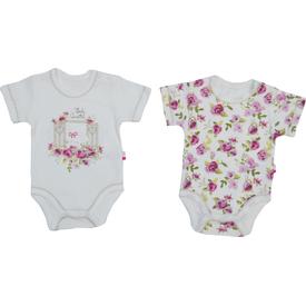 Baby Center S84174 Kız Bebek Cam Güzeli 2 Li Body Kısa Kol Fuşya 3-6 Ay (62-68 Cm) Kız Bebek Body