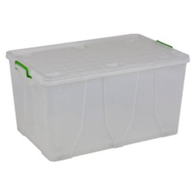 Hi-Pas Plastik Hi-pas Saklama Kutusu Plastik Kapaklı Tekerlekli 120 Lt Saklama Kabı