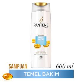 Pantene Şampuan Temel Bakım 600 ml Saç Bakım Ürünü