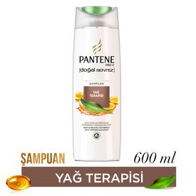 Pantene Şampuan Doğal Sentez Yağ Terapisi 600 ml Saç Bakım Ürünü
