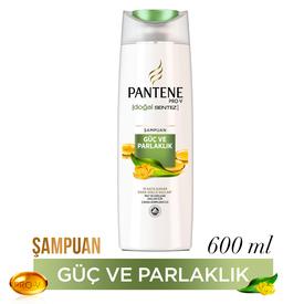 Pantene Şampuan Doğal Sentez Güç ve Parlaklık 600 ml Saç Bakım Ürünü