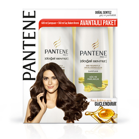 Pantene Doğal Sentez Güç ve Parlaklık 600 ml Şampuan + 360 ml Saç Bakım Kremi Saç Bakım Ürünü