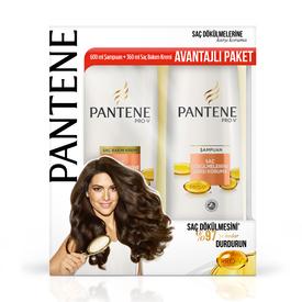 Pantene Saç Dökülmelerine Karşı Etkili 600 ml Şampuan + 360 ml Saç Bakım Kremi Saç Bakım Ürünü