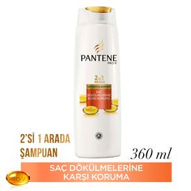 Pantene 2'si 1 Arada Şampuan ve Saç Bakım Kremi Saç Dökülmelerine Karşı Etkili 360 ml Saç Bakım Ürünü
