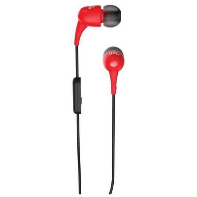 JBL T100A, Kulaklık, CT, IE, Kırmızı Kulak İçi Kulaklık