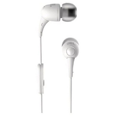 JBL T100A, Kulaklık, CT, IE, Beyaz Kulak İçi Kulaklık