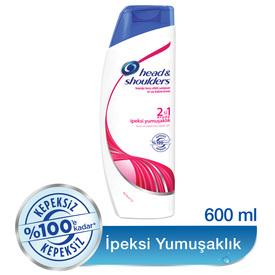 Head & Shoulders 2'si 1 Arada Şampuan İpeksi Yumuşaklık 600 ml Saç Bakım Ürünü