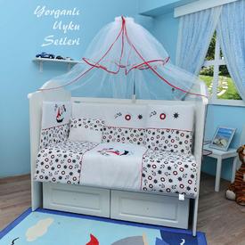 Bambidoo B-2050 Yorganlı Uyku Seti Hot Captain Lacivert-kırmızı 70x130 Bebek Uyku Seti