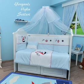 Bambidoo B-2052 Yorganlı Uyku Seti Hot Captain Turkuaz 70x130 Bebek Uyku Seti