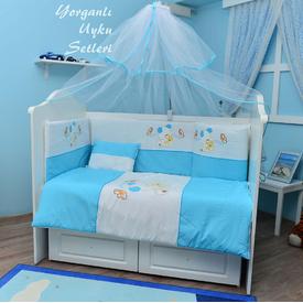 Bambidoo B-2010 Yorganlı Uyku Seti Cute Dog Mavi 70x130 Uyku Setleri