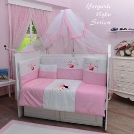 Bambidoo B-2030 Yorganlı Uyku Setleri Cute Rabbit Pembe 60x120 Bebek Uyku Seti