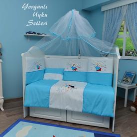 Bambidoo B-2031 Yorganlı Uyku Seti Cute Rabbit Mavi 60x120 Uyku Setleri