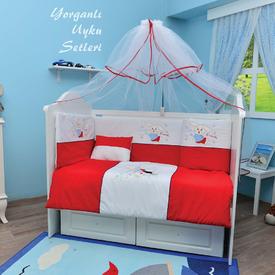 Bambidoo B-2032 Yorganlı Uyku Seti Cute Rabbit Kırmızı 60x120 Uyku Setleri