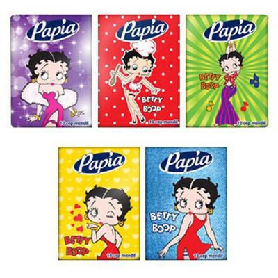 Papia Betty Boop Cep Mendili Paket 10 Adet Peçete