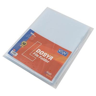 Kraf L Poşet Dosya A4 100'lü Paket (1011)