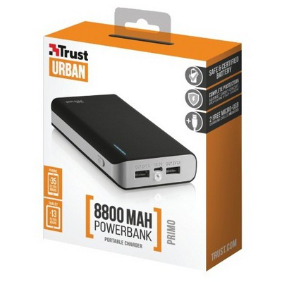Trust 21227 8800 Mah Powerbank-siyah Taşınabilir Şarj Cihazı