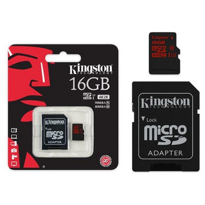 Kingston 16GB MicroSD UHS-I U3(SDCA3/16GB) Micro SD Kart